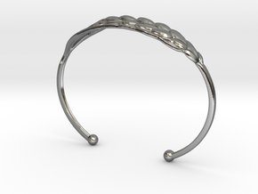 Wheat Bracelet all sizes in Polished Silver: Small