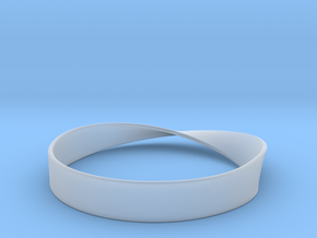 Möbius Bracelet Bangle in Smooth Fine Detail Plastic