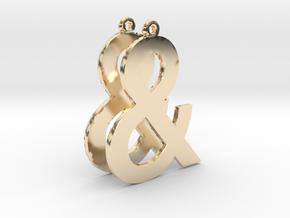 Ampersand earrings in 14K Yellow Gold