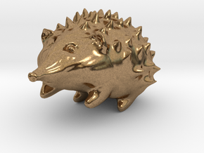 Hedgehog in Natural Brass