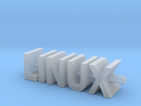 Linux Text Desk Ornament in Smooth Fine Detail Plastic
