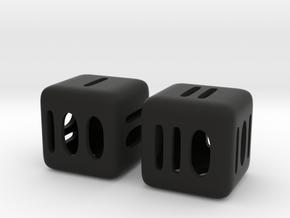 Binary D6 in Black Natural Versatile Plastic