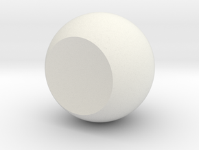 Single Orb in White Natural Versatile Plastic