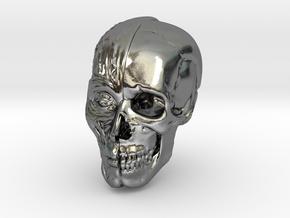 Anatomy Head in Polished Silver