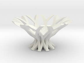 Snowflake bowl in White Natural Versatile Plastic