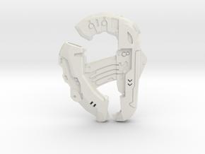 1:6 Large Direct Energy pistol  in White Natural Versatile Plastic