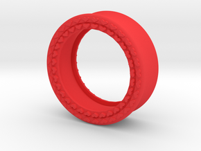 VORTEX8-29mm in Red Strong & Flexible Polished