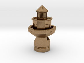 Hilton Head Lighthouse in Natural Brass
