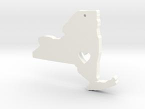 I love New York Pendant in White Processed Versatile Plastic