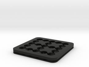 Dancing Dice & Dominoes Puzzle - Part 2/3 (Frame) in Black Natural Versatile Plastic
