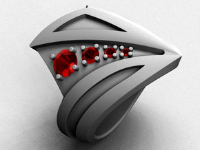 Light Speed Ring - Size 12 (21.49 mm) in Natural Silver