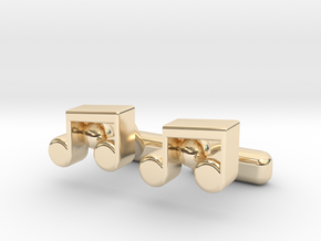 Music Note Cufflinks in 14K Yellow Gold