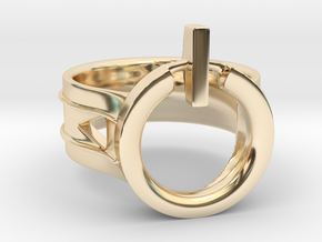 Power Ring Size 8 in 14K Yellow Gold