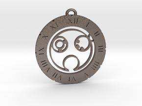 Blake - Pendant in Polished Bronzed Silver Steel