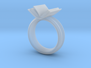 Book ring(USA 6.5,Japan 12, Britain M) in Smooth Fine Detail Plastic
