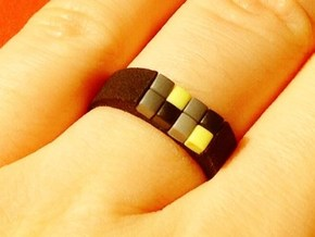 8-bit ring (US9/⌀18.9mm) in Black Natural Versatile Plastic