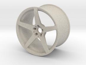 Scaled 1:12 5 Spoke Performance Wheel in Natural Sandstone