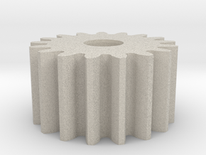 Spur Gear M1 Z17 in Natural Sandstone