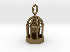 Heart Cage in Natural Bronze