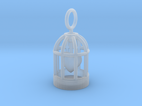 Heart Cage in Smooth Fine Detail Plastic