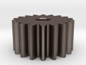 Spur Gear M1 Z18 in Polished Bronzed Silver Steel