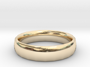 plain Ring Size 22x22 in 14K Yellow Gold