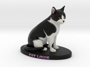 Custom Cat Figurine - Louie in Full Color Sandstone