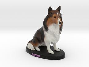 Custom Dog Figurine - Layni in Full Color Sandstone