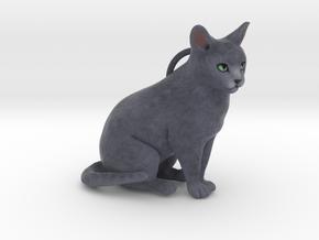 Custom Cat Ornament - Mushu in Full Color Sandstone