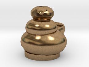 Open Sim Snowman  Ring in Natural Brass