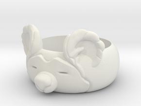BearRing S8 in White Natural Versatile Plastic