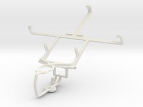 Controller mount for PS3 & LG Optimus Vu II in White Natural Versatile Plastic