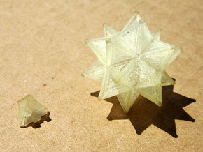 Stellated Icoso Case - 3.6cm in Transparent Acrylic