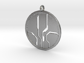 Mantle of Responsibility - Necklace pendant in Natural Silver