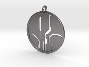 Mantle of Responsibility - Necklace pendant in Polished Nickel Steel