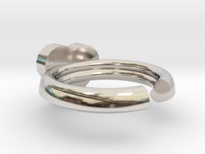 Hearts Ring 20x20mm inner diameter in Platinum