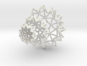 Tessa Half WireBalls 3 sizes - 4cm in White Natural Versatile Plastic