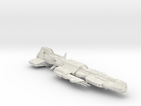 Aurora Ship (hollowed) in White Strong & Flexible