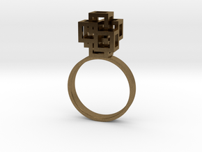 Quadro Ring - US 5 in Natural Bronze