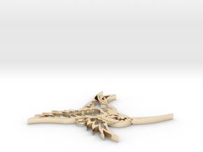 Tribal Hummingbird pendant in 14K Yellow Gold