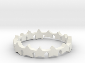 The Stars Shine Brighter Ring | Size 9 in White Natural Versatile Plastic
