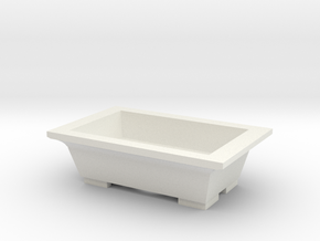 bonsai pot in White Natural Versatile Plastic