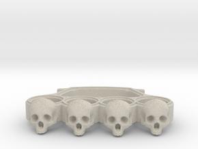 Knuckles skull edition in Natural Sandstone