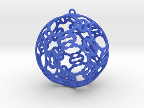3D Printed Holidays Christmas Butterfly Ornament in Blue Processed Versatile Plastic