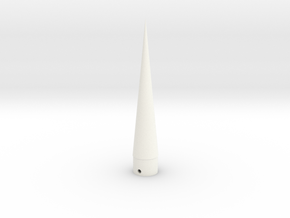ASP Nose Cone BT50 scale in White Strong & Flexible Polished