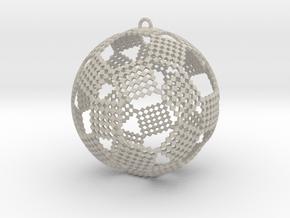 Checkers Ornament in Natural Sandstone