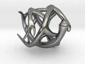 Antler Ring - Size 7(UPDATED) in Polished Silver
