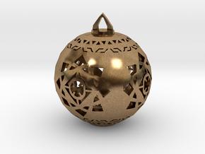 Scifi Ornament 1 in Natural Brass