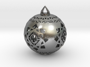 Scifi Ornament 1 in Natural Silver
