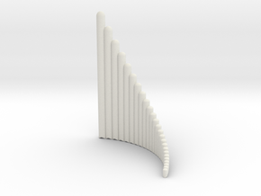 Right-handed Jazz Ballad Wholetone Panpipe 4 octav in White Natural Versatile Plastic